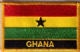 Ghana Embroidered Flag Patch, style 09.
